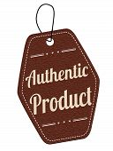 Authentic Product Brown Leather Label Or Price Tag