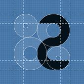 Round engineering font. Symbol 2