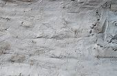 Texture Of Wall Covered With White Putty