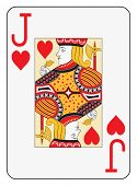 Jumbo index jack of hearts playing card