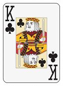 Jumbo index king of clubs playing card