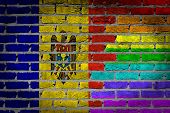 Dark Brick Wall - Lgbt Rights - Moldova