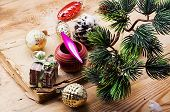 Christmas accessories in vintage style