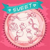 image of candy cotton  - Candy sketch - JPG