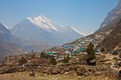 pic of sherpa  - Himalayan village Thamo in the mountains - JPG