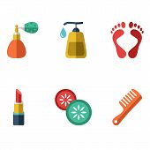 Vector illustration of various spa icons