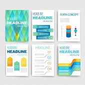 Templates. Design Set of Web, Mail, Brochures. Mobile, Technology, App and Infographic Concept.