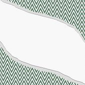 picture of chevron  - Green and White Chevron Zigzag Frame with Torn Background with center for copy - JPG