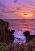 Beautiful Sunrise Highlights Stunning Volcanic Sea Cliffs