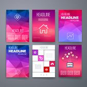 Templates. Design Set of Web, Mail, Brochures. Mobile, Technology, App ui and Infographic Concept.