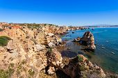 foto of lagos  - Camilo Beach in Lagos Algarve region in Portugal - JPG