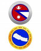 Button As A Symbol Nepal