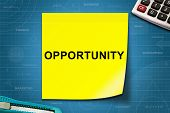 Opportunity Word On Yellow Note