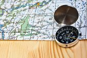 foto of compasses  - The magnetic compass and topographic map - JPG