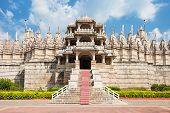 image of jain  - Ranakpur Temple is a jain temple in Rajasthan India - JPG