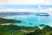 stock photo of langkawi  - View of Langkawi island from observation deck - JPG