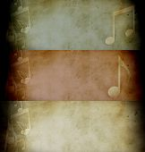Three Old Music Page. Banner