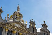 picture of opulence  - Opulent guildhalls surrounds the Grand Place or Grote Markt the central square of Brussels in Belgium - JPG
