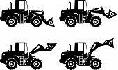 stock photo of wheel loader  - Detailed illustration of wheel loaders - JPG