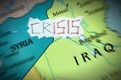 picture of isis  - Conceptual representation of the crisis caused by the Islamic State - JPG