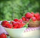 pic of strawberry  - Strawberries are strong antioxidant and strawberries are rich with vitamins - JPG