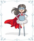 foto of role model  - Vector cartoon of a pregnant super heroine - JPG