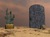 image of tombstone  - Tombstone - JPG