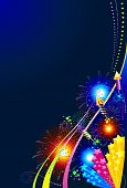 Fireworks celebration background
