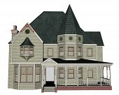 Victorian house - 3D render