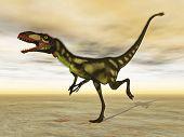Dilong dinosaur - 3D render