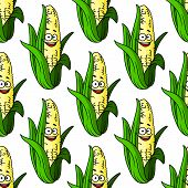 Ripe corn seamless pattern