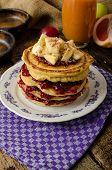 Homemade Pancakes With Bananas