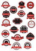 Various labels for premium quality designs