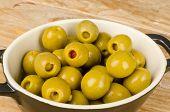 Pepper Stuffed Olives Tapa