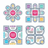 Four Infographic business concept.
