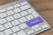 Register On Modern Keyboard