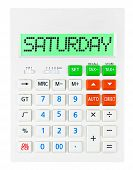 Calculator With Saturday