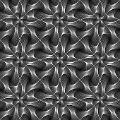 Design Seamless Twirl Movement Striped Geometric Pattern