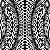 Design Warped Monochrome Vertical Geometric Pattern