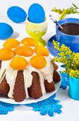Easter Cake With Apricots