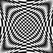 Design Monochrome Illusion Checkered Background
