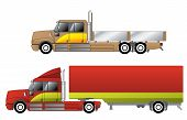 pic of 18 wheeler  - Convetional trucks with double cab and various chassis configurations - JPG