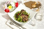 salad of rabbit liver