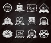 picture of crown  - Best choice premium quality goods sales chalkboard emblems icons collection with crown symbol graphic vector isolated illustration - JPG