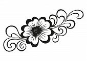 Doodling flower in tattoo style