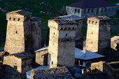 Stone Towers Of Mountainous Ushguli Village In Upper Svaneti - Unesco World Heritage Site,georgia