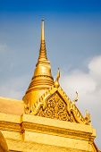 Wat Phra Kaeo, Temple Of The Emerald Buddha And The Home Of The Thai King. Wat Phra Kaeo Is One Of B