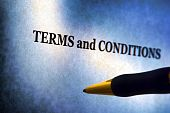 Terms And Conditions Notice And Pen