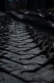 picture of footprint  - Footprint pattern truck tire - JPG
