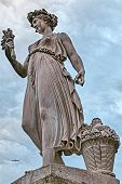 pic of abundance  - Statue of the goddess of abundance in Piazza del Popolo in Rome
